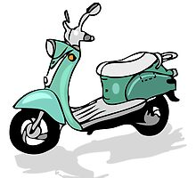 retro moped, vector transportation, moto by iconsjewelry