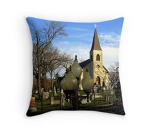 St. James of the Sag Church Lamps Throw Pillow