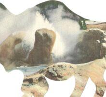 yellostone bison Sticker