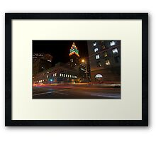 Downtown Oakland, CA at Night Framed Print