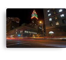 Downtown Oakland, CA at Night Canvas Print