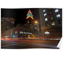 Downtown Oakland, CA at Night Poster