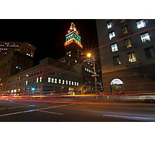 Downtown Oakland, CA at Night Photographic Print
