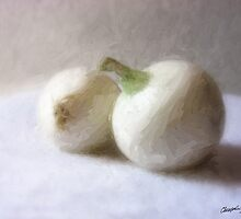Two White Onions 1 by Christopher Johnson