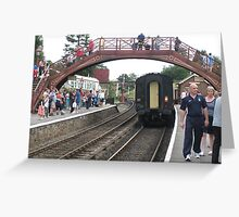 """Muggles on Tour - """"Hogsmead"""" Station Greeting Card"""