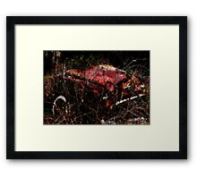 White Wall and Rust Framed Print