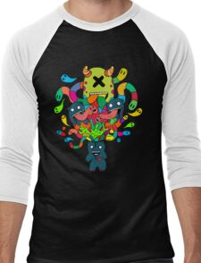 Monster Brains Men's Baseball ¾ T-Shirt