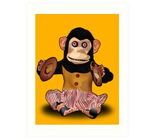 Clapping Monkey Art Print
