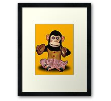 Clapping Monkey Framed Print