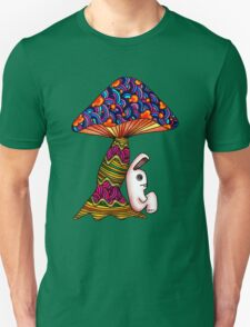 Rabbit by a Mushroom Unisex T-Shirt