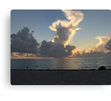 Miami Beach Sunrise 1 Canvas Print