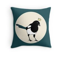 King Magpie Throw Pillow