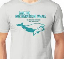 Save the Northern Right Whale Unisex T-Shirt