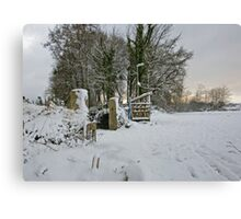 Snow Scene Yelverton, Dartmoor Canvas Print