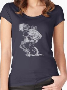 caturpult (white) Women's Fitted Scoop T-Shirt