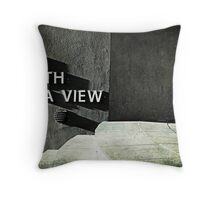 Loo with a view Throw Pillow