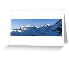 Monte Rosa and Lyskamm Greeting Card