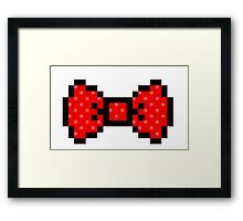 8 bit bow tie Framed Print