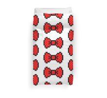 8 bit bow tie Duvet Cover