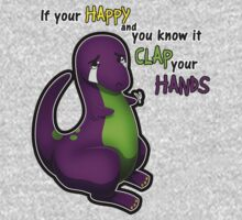 If Your Happy And You Know It Barney One Piece - Short Sleeve