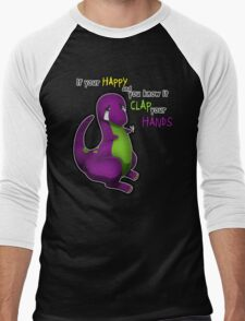 If Your Happy And You Know It Barney Men's Baseball ¾ T-Shirt