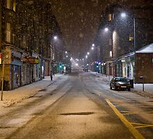 Morningside Road in the snow by chrisdonia