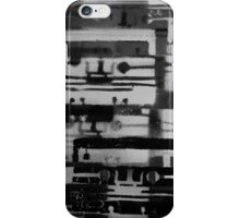Mixed Tape B&W  iPhone Case/Skin