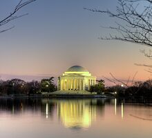 Jefferson Memorial at Dusk by Terence Russell
