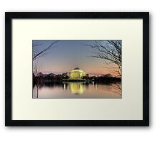 Jefferson Memorial at Dusk Framed Print