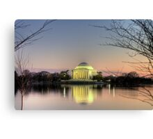 Jefferson Memorial at Dusk Canvas Print