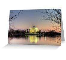 Jefferson Memorial at Dusk Greeting Card