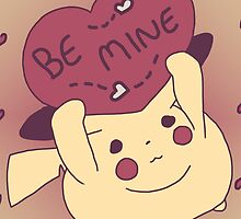 Be Mine Pikachu by zerojigoku