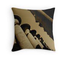 Colossal Karnak Temple Throw Pillow