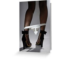 Woman Legs Greeting Card
