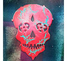 Paint Peel Skull  Photographic Print