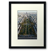 Paris, From the Top of the Tower Framed Print