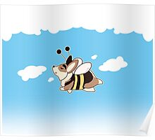Flying Bee Gus Poster