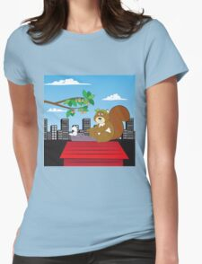 Typewriting Squirrel Womens Fitted T-Shirt