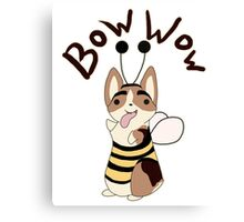 Bow Wow Gus Beesuit Canvas Print