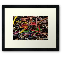 The wheels have stopped Framed Print