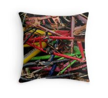 The wheels have stopped Throw Pillow