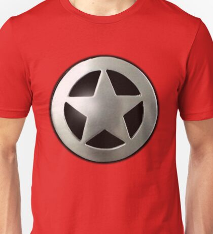 Sheriff star badge Unisex T-Shirt