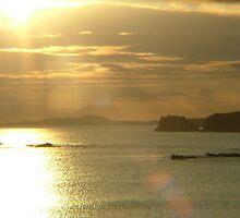 Golden Sunset - Irish Coastal road by Jason Kiely