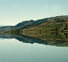 Cromwell Dam Reflections, New Zealand by Carole-Anne