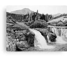 Lundbreck Falls Canvas Print