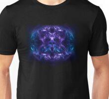 Fractal Flame Skull v2 (Blue/Purple) Unisex T-Shirt