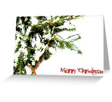 nature flocked Greeting Card
