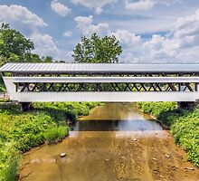 The Johnston Covered Bridge by Kenneth Keifer