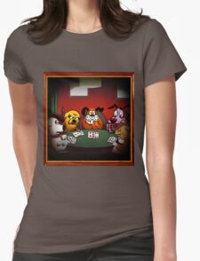 Dogs Playing Poker Womens Fitted T-Shirt