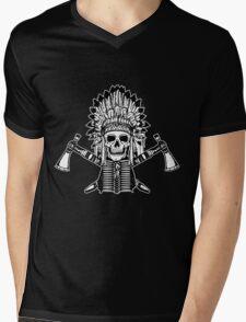 Skull Chief Mens V-Neck T-Shirt